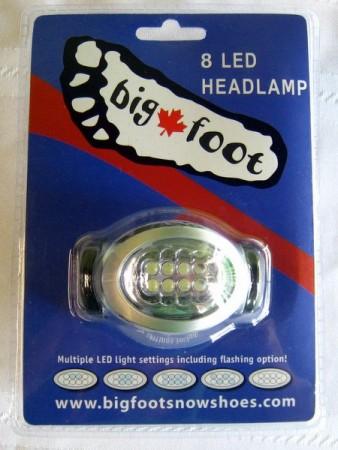 Hodelykt med 8 LED lamper