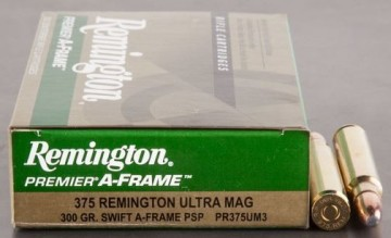 Remington 375 Remington Ultra Magnum 300grs Swift A-Frame Pointed Soft Point