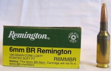 Remington 6MM BR Remington 100 grs Core-Lokt Pointed Soft Pointed