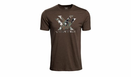 Vortex Camo Logo T-Shirt - Brown Heather