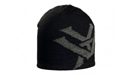 Vortex Black Logo Knit Hat