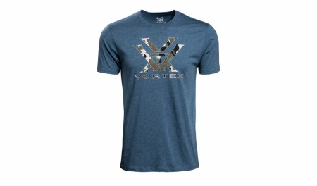 Vortex Camo Logo T-Shirt - Steel Blue Heather