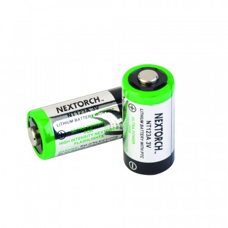 NexTorch  CR123A Batteri, 2 stk.